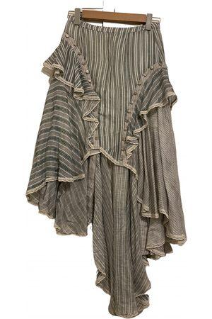 ZIMMERMANN Grey Linen Skirts