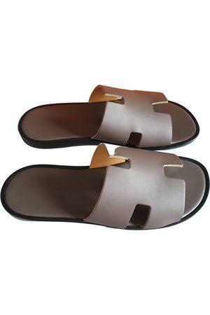 Hermès Izmir leather sandals