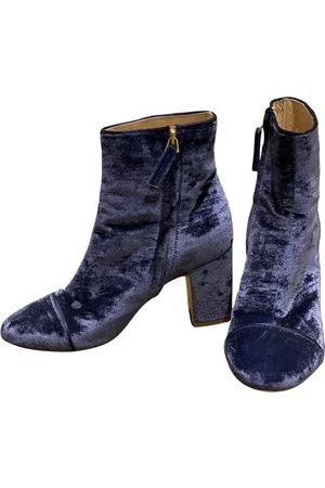 Polly Plume Velvet Boots