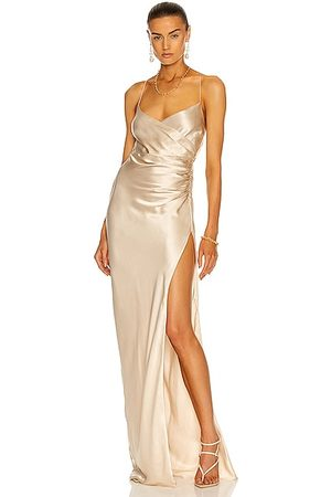 The Sei Strappy Wrap Gown in Ivory