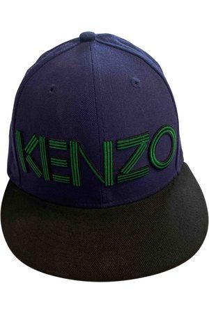 Kenzo Men Hats - Navy Cotton Hats & Pull ON Hats