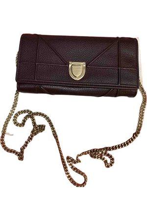 Dior Women Clutches - Burgundy Leather Clutch Bags