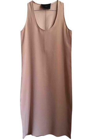 DECOTIIS Ecru Silk Dresses