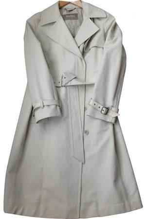 Max Mara Ecru Cotton Trench Coats