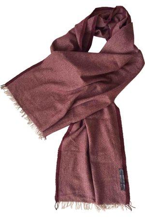 Ermenegildo Zegna Burgundy Cashmere Scarves & Pocket Squares