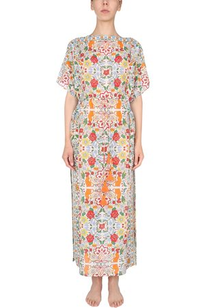 Tory Burch Women Beach Dresses - MIXED SILK WITH MULTICOLOR PATTERN CAFTAN