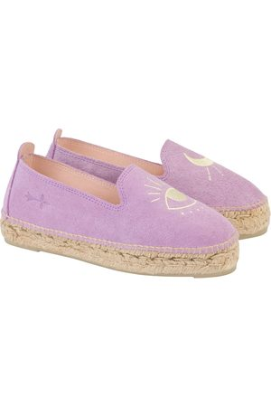 Manebi Lilac + yellow eye suede with embroidery; palm springs