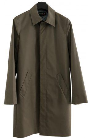 Agnès B. Khaki Cotton Coats