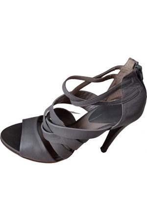 Ixos Grey Leather Sandals
