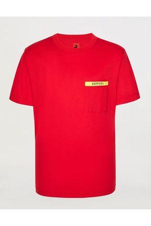 FERRARI STORE Men Short Sleeve - Men's Supima cotton T-shirt with logo breast pocket