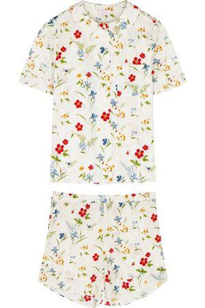 YOLKE Thebe floral-print cotton pyjama set