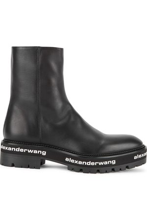 Alexander Wang Women Ankle Boots - Sanford logo leather ankle boots