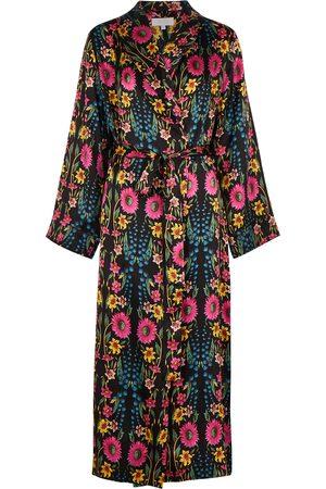 YOLKE Women Bathrobes - Wildflower printed silk robe