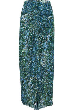 Veronica Beard Limani printed chiffon midi skirt