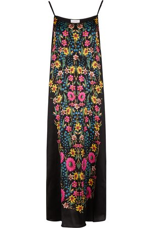 YOLKE Women Casual Dresses - Wildflower printed silk slip dress