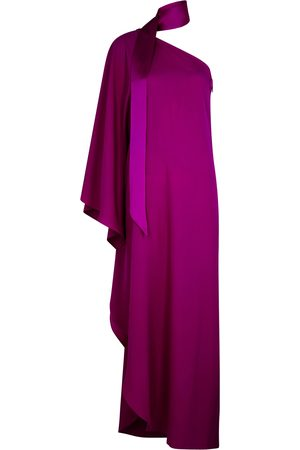 Taller Marmo Bolkan magenta one-shoulder gown