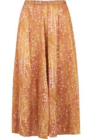 forte forte Printed silk-satin skirt