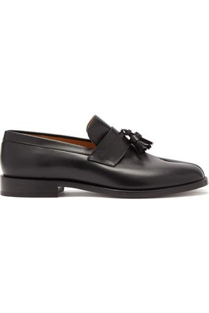Maison Margiela Tabi Split-toe Leather Penny Loafers - Mens