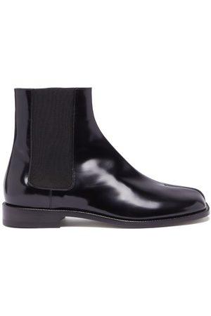 Maison Margiela Men Chelsea Boots - Tabi Split-toe Leather Chelsea Boots - Mens