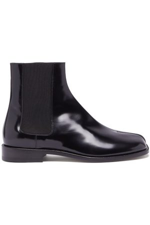 Maison Margiela Tabi Split-toe Leather Chelsea Boots - Mens