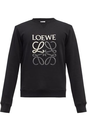Loewe Men Sports Hoodies - Anagram-embroidered Cotton-jersey Sweatshirt - Mens
