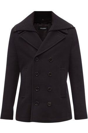 Dolce & Gabbana Double-breasted Wool-blend Peacoat - Mens