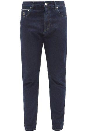 Brunello Cucinelli Mid-rise Slim-leg Jeans - Mens - Indigo