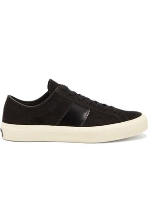 Tom Ford Men Sneakers - Cambridge Leather-trim Suede Trainers - Mens