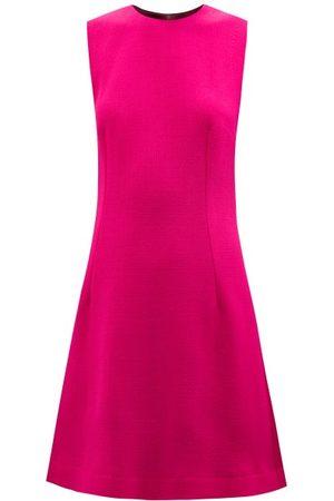Dolce & Gabbana Round-neck Wool Mini Dress - Womens