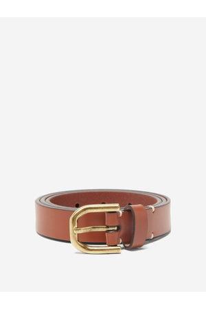 Raey Men Belts - Slim Bridle-leather Belt - Mens - Tan