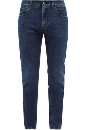 Dolce & Gabbana Logo-plaque Slim-leg Jeans - Mens