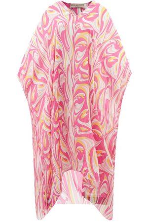 Emilio Pucci Vortici-print Silk-chiffon Kaftan - Womens - Print