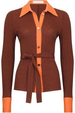 REJINA PYO Women Cardigans - Blake Belted Rib-knitted Cardigan - Womens