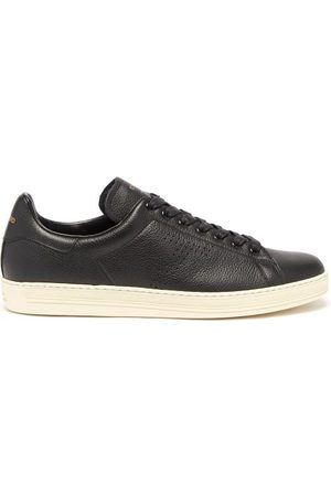 Tom Ford Warwick Grained-leather Trainers - Mens