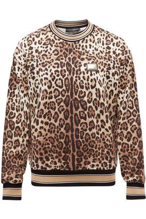 Dolce & Gabbana Leopard-print Cotton-jersey Sweatshirt - Mens - Multi