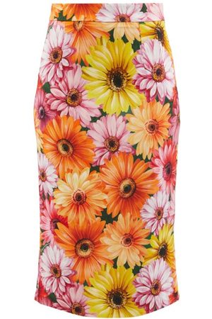 Dolce & Gabbana Floral-print Crepe Pencil Skirt - Womens
