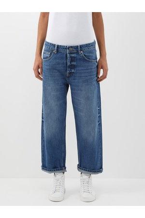 Raey Women Boyfriend Jeans - Dad Organic-cotton Baggy Boyfriend Jeans - Womens - Dark