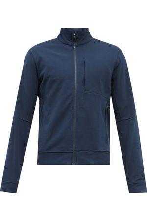 Lululemon Men Sports Jackets - Sojourn High-neck Jacket - Mens - Navy