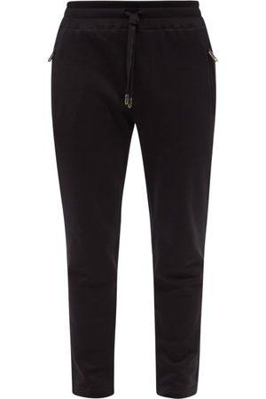 Dolce & Gabbana Logo-patch Cotton-jersey Sweatpants - Mens