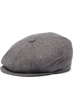 Brunello Cucinelli Wool Flat Cap - Mens - Dark Grey