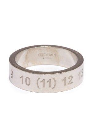 Maison Margiela Number-engraved Sterling- Ring - Mens