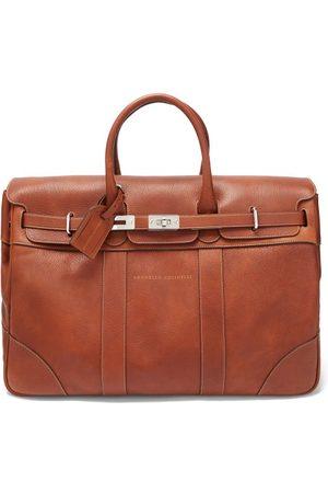 Brunello Cucinelli Men Travel Bags - Grained-leather Garment Bag - Mens