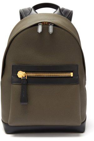 Tom Ford Men Rucksacks - Buckley Grained-leather Backpack - Mens - Khaki