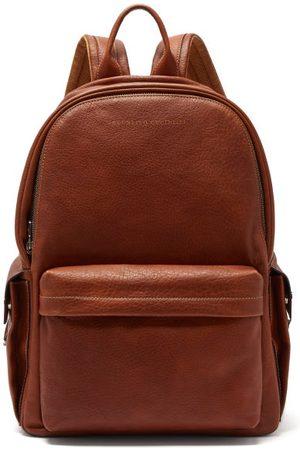 Brunello Cucinelli Men Rucksacks - Grained Leather Backpack - Mens