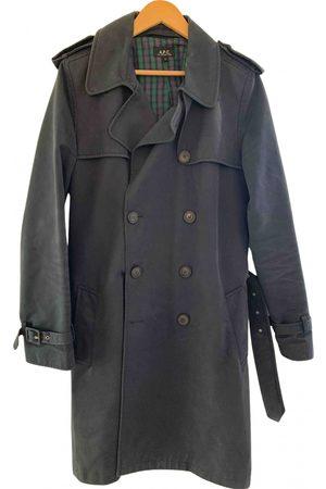 A.P.C. Navy Cotton Coats