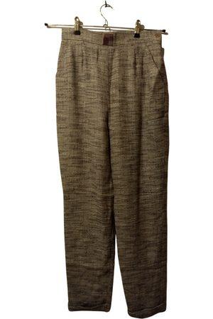 Céline Grey Wool Trousers