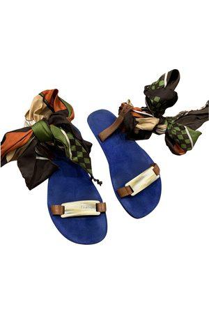 Avec Modération Multicolour Suede Sandals
