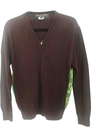 Comme des Garçons Burgundy Wool Knitwear & Sweatshirts