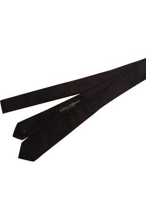 Dolce & Gabbana Burgundy Silk Ties