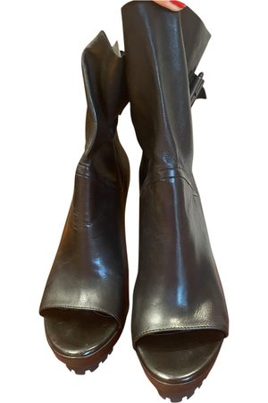vic matiè Leather ankle boots